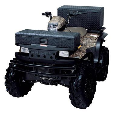 Tradesman Side Bin Truck Tool Box - Black Aluminum - Full/Mid Size - Single Lid - 36