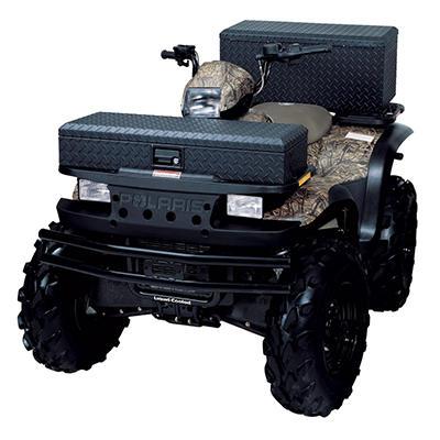 Lund 288273BK 36-Inch Aluminum ATV Storage Box, Diamond Plated, Black