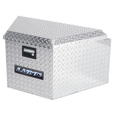 Lund 6120 16-Inch Aluminum Trailer Tongue Truck Box, Diamond Plated, Silver
