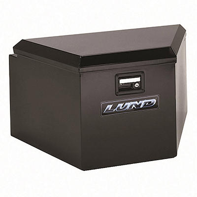 Lund 76234 21-Inch 16-Gauge Steel Trailer Tongue Box, Black