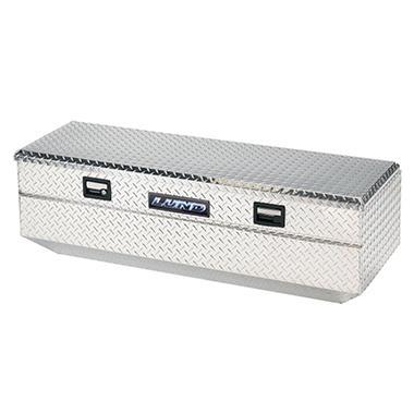 Lund 9447 48-Inch Aluminum Flush Mount Single Lid Truck Tool Box, Diamond Plated, Silver