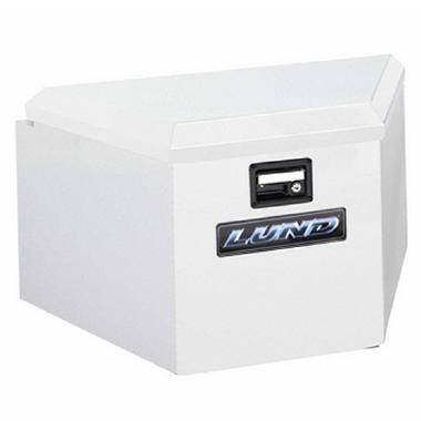 "Tradesman 16"" Trailer Tongue Box - Steel - White"