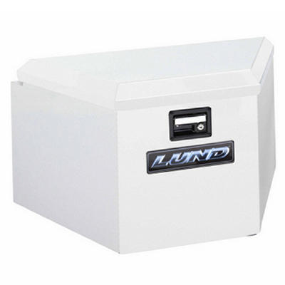Lund 6220 34-Inch 16-Gauge Steel Trailer Tongue Box, White
