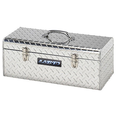 Lund 5124T 24-Inch Aluminum Handheld Tool Box, Diamond Plated, Silver