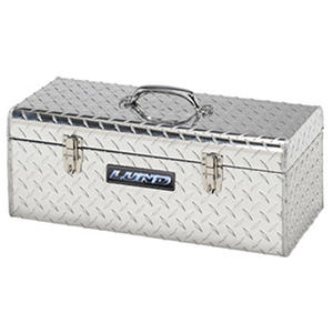 "Lund 24"" Aluminum Diamond Plated Handheld Tool Box - Silver"