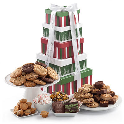 Mrs. Fields Holiday Treats Tower