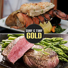 Surf and Turf Feast: Filet Mignon (8 oz. ea., 4 ct.) and Lobster Tails (4 oz. ea., 5 ct.)