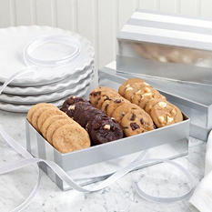 Mrs. Fields Shimmer Strip Cookie Box