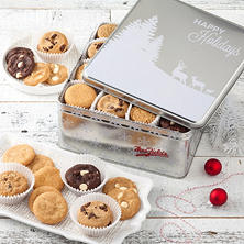 Mrs. Fields Holidays 96 Nibbler Tin (Assorted Styles)
