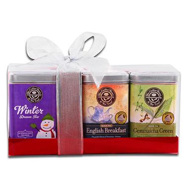 Coffee Bean & Tea Leaf Tea Sampler Gift Set - 3 tins - 16 bags each