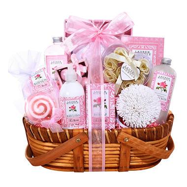 Alder Creek Gift Basket - Pink Petals