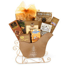 Golden Sleigh Ride Gift Basket