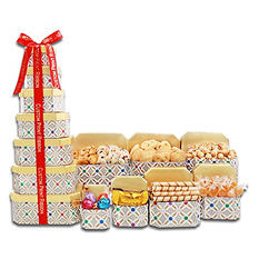 Alder Creek Ultimate Holiday Gift Tower with Custom Printed Ribbon