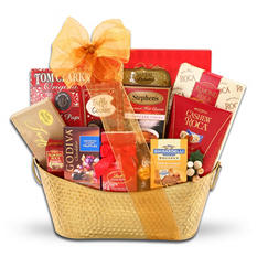 Golden Decadence Chocolate Gift Basket