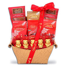 Lindt Assorted Chocolates Holiday Gift Basket