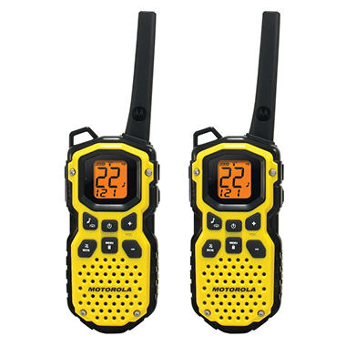 Motorola Waterproof 2-Way Radio with 35 Mile Range