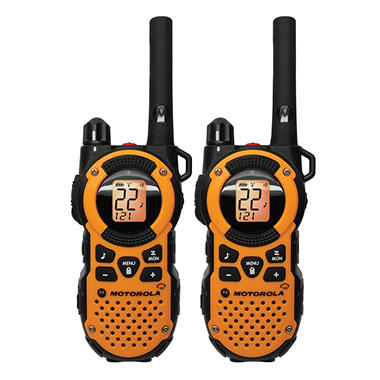 Motorola 2-Way Giant Radio Pack - 35 Mile Range -Orange