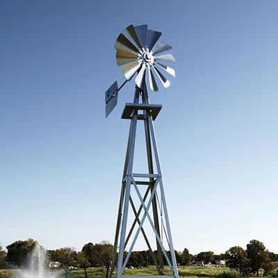 Outdoor Water Solutions Galvanized Backyard Windmill