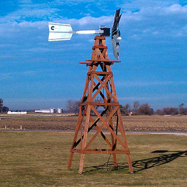 Outdoor Water Solutions 16' OWS 4-Legged Wooden Aeration Windmill