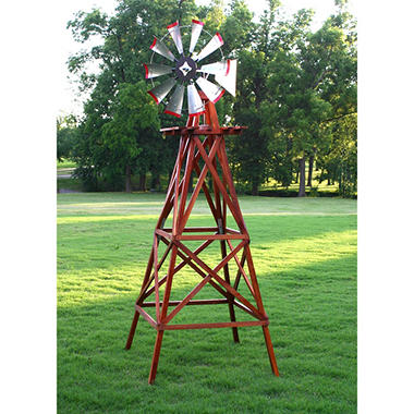 Outdoor Water Solutions 10' Wood Backyard Windmill