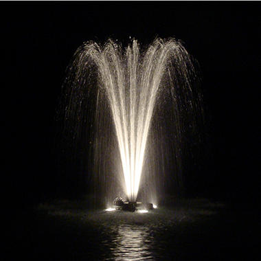 Outdoor Water Solutions 1 HP Fountain with 2 Lights