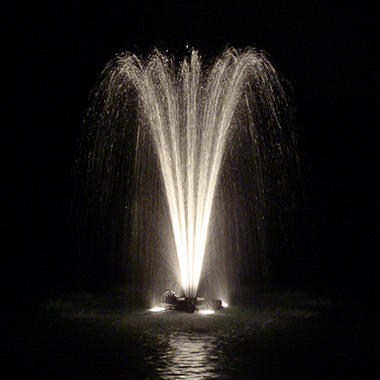 Outdoor Water Solutions 1.5 HP Fountain with 2 Lights