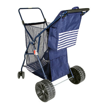 Folding Beach Cart with Cooler