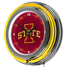 Iowa State University Neon Wall-Mounted Clock