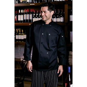 Mesh Back Chef Coat, Black (XSM, Fits 32-34 Chest)