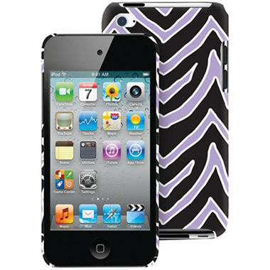 Macbeth Collection iPod Touch 4G Case - Lilac & Black Zebra