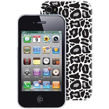 The Macbeth Collection PC Case for iPhone 4/4s - Silver Leopard