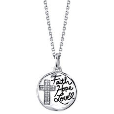 """Faith Hope Love"" Pendant"