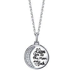 """I Love You to the Moon and Back"" Pendant"