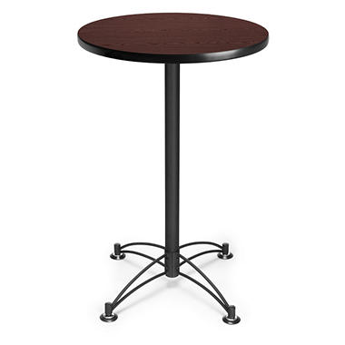 Round Café-Height Table - Black Base - Various Sizes and Colors