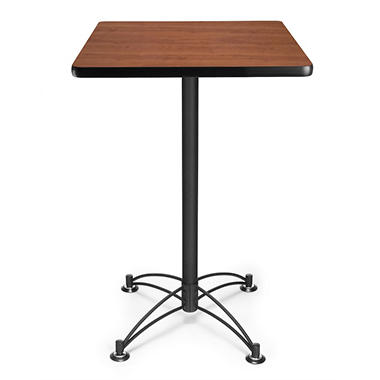 Square Café Height Table - Black Base - Various Colors and Sizes