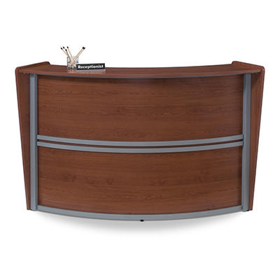 Reception Desk Wood Front - Cherry