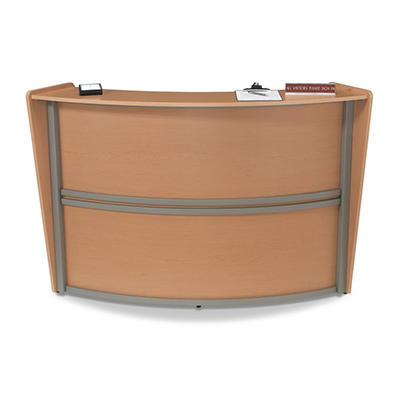 Reception Desk Wood Front - Maple