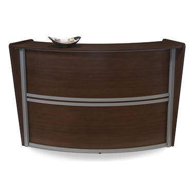 Reception Desk Wood Front - Walnut