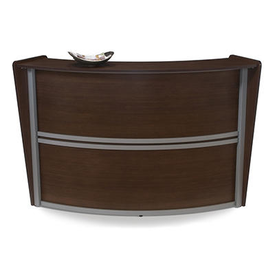 Reception Desk Wood Front - Walnut