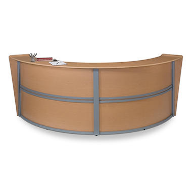 Double Reception Desk Wood Front - Maple