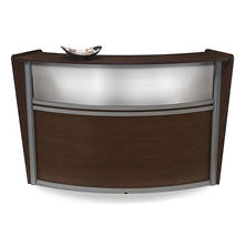 Reception Desk Plexi Front - Walnut