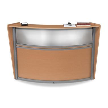 Reception Desk Plexi Front - Maple
