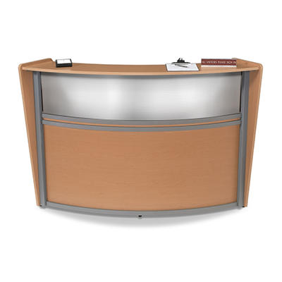 Reception Desk Plexi Front - Maple