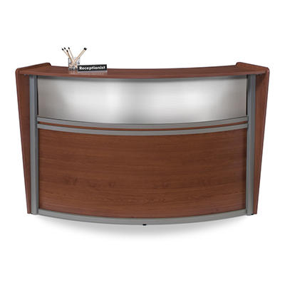 Reception Desk Plexi Front - Cherry