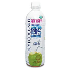 KOH Coconut 100% Organic Pink Baby Coconut Water (16.9 fl. oz., 12 pk.)