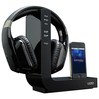 VIZIO HD Wireless Headphones with iPod Dock