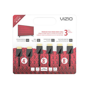 VIZIO M-Series TXCHMT-C2K High-Speed HDMI® Cable – 3 Pack (4', 8' & 8')