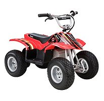 Razor Dirt Quad Electric Four-Wheeled Off-Road Vehicle with Powerful 350 Watt Electric Motor