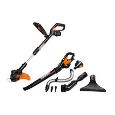 WORX 32V Li-ion Blower and Trimmer Combo Kit with WORXAIR