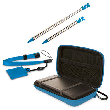 Dreamgear Blue 4-in-1 Case Pack for the 3DS